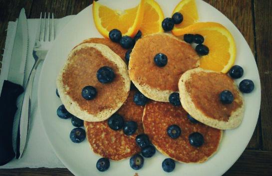 American Style Banana Protein Pancakes