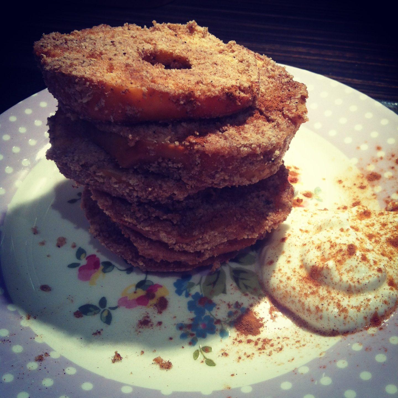 Baked Almond Apple Rings