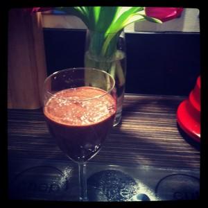 Chia Chocolate Glass