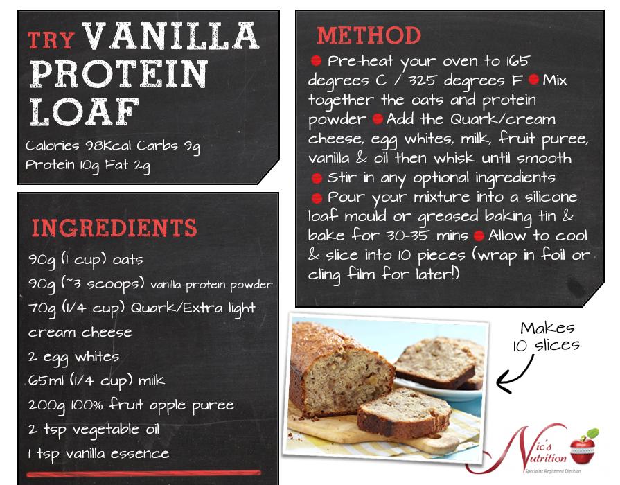 Nicsnutrition Vanilla Protein Loaf