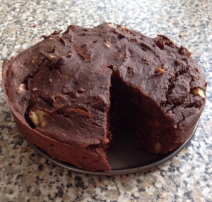 Chickpea protein brownie