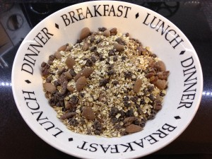 Healthy chocolate protein granola
