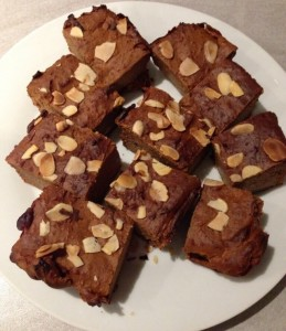 Sweet Potato Protein Brownies