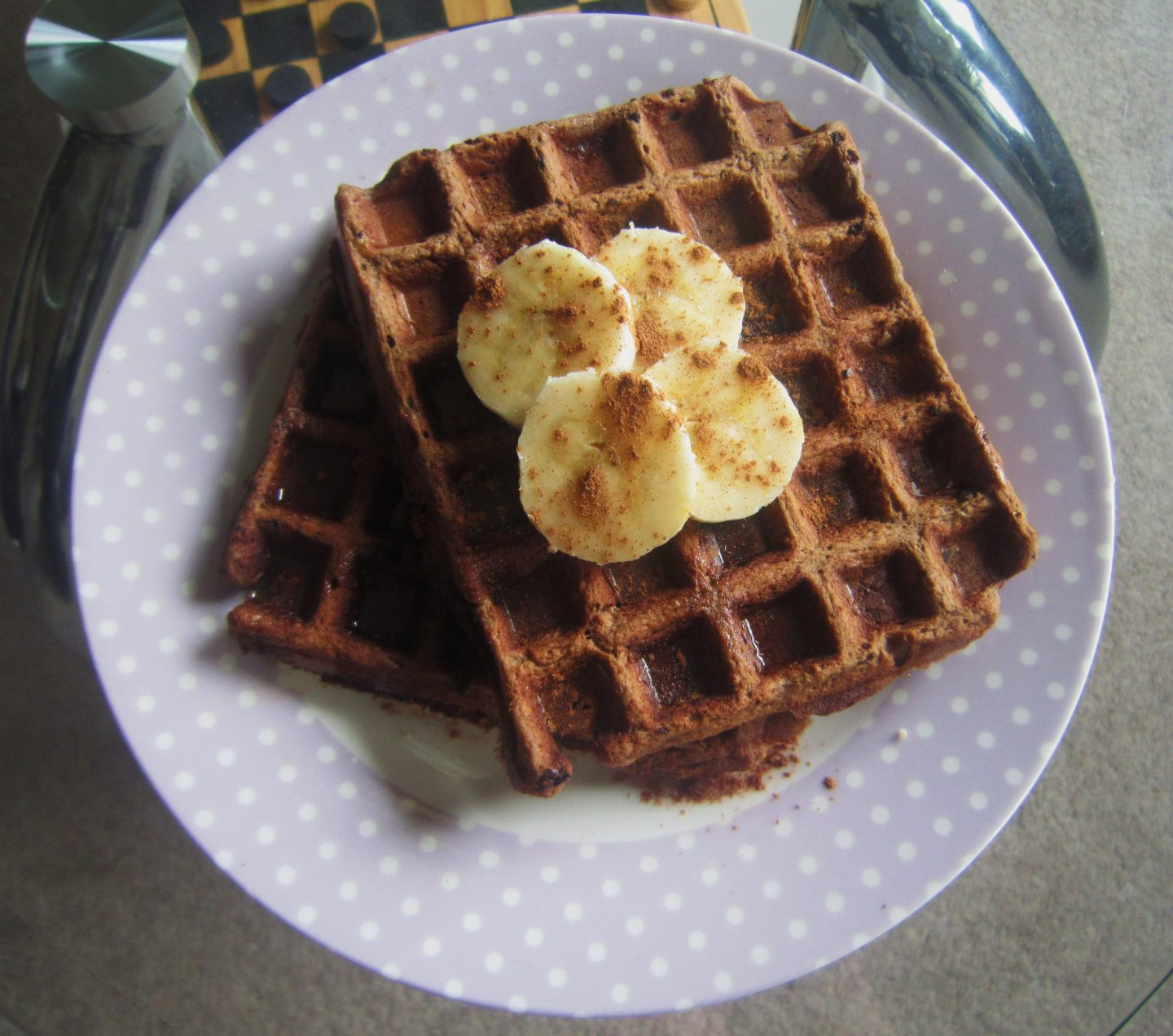 Chocolate Protein Waffles