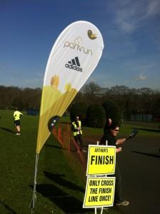 Park Run UK Finish