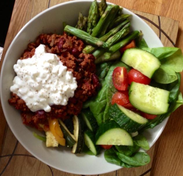 Quorn mix with cottage cheese