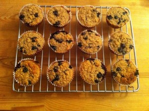 Oat blueberry muffins