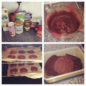 Blackbean cookies