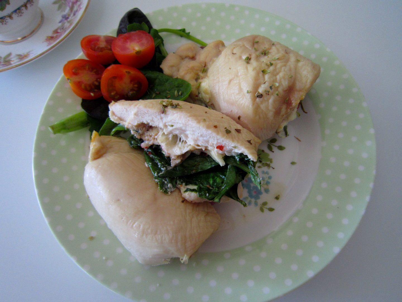 Chicken Breasts Stuffed with Veggies & Skinny Mozzarella