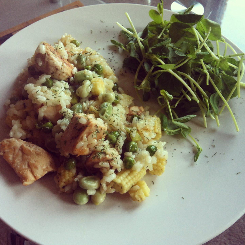 Healthy Lemon Chicken Risotto
