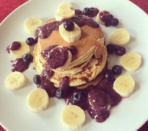 Greek yoghurt protein pancakes