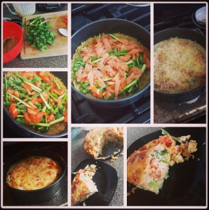 healthy brown rice quiche
