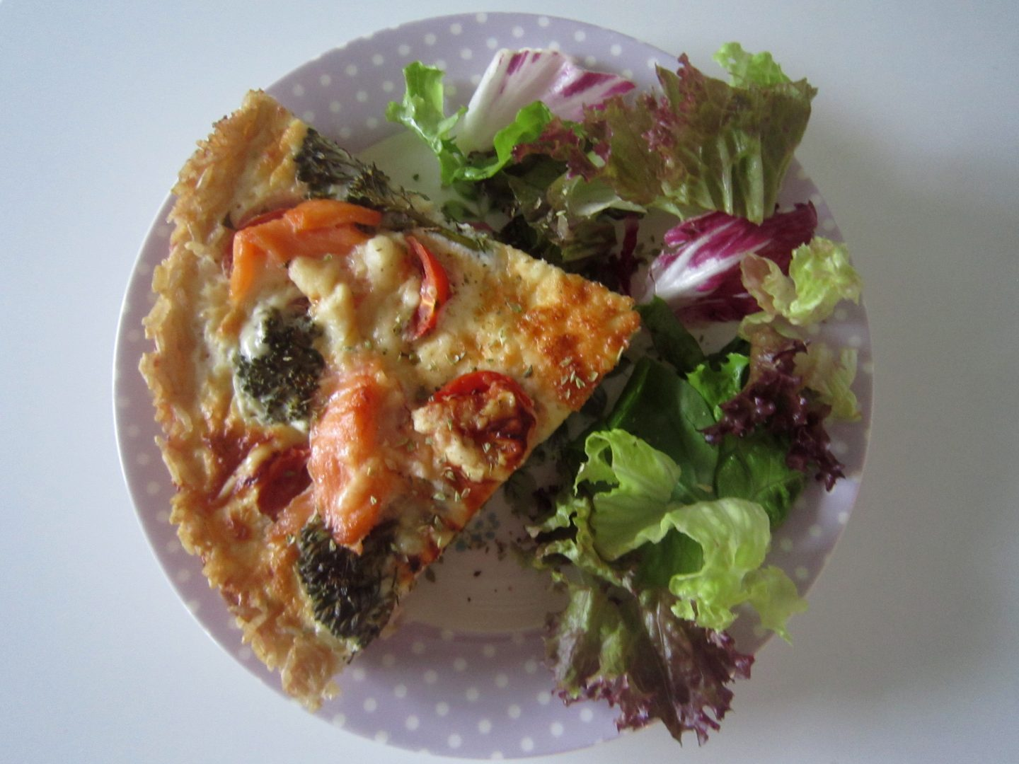 Healthy Quiche with a Brown Rice Crust