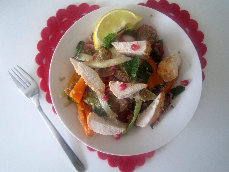 Harissa Roasted Chicken with Quinoa Salad