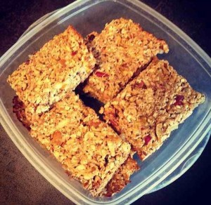 oat apple bars