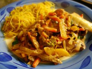Oriental healthy stir fry