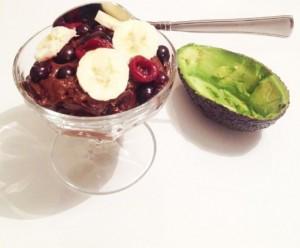 Healthy avocado mousse