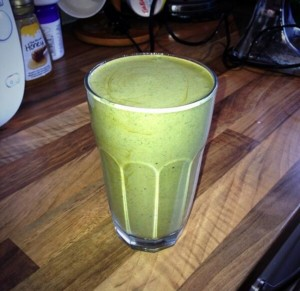 Healthy chico mint protein smoothie
