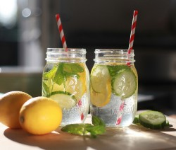 detox water lemon mint cucumber