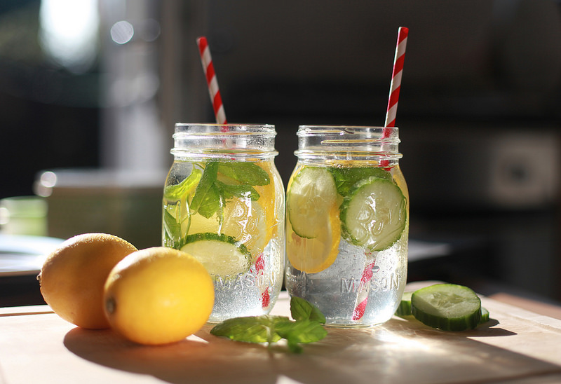 "Lemon, Cucumber & Mint ""Detox"" Water"