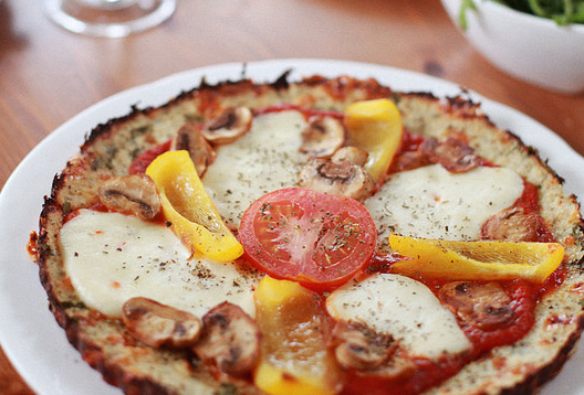 Healthy Cauliflower Base Pizza