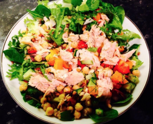 Salmon Chickpea Salad