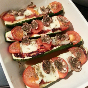 Courgette Pizza Boats