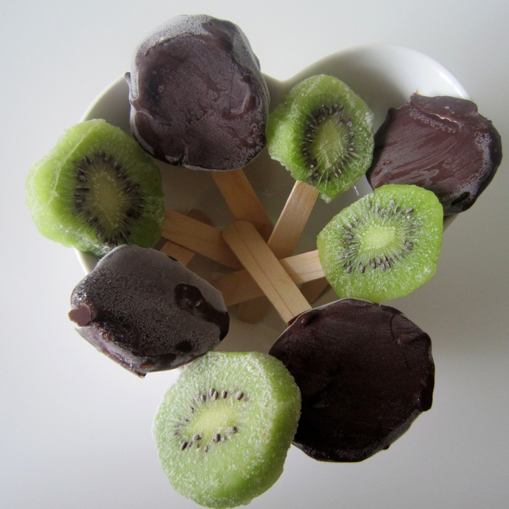 Chocolate Covered Frozen Kiwis