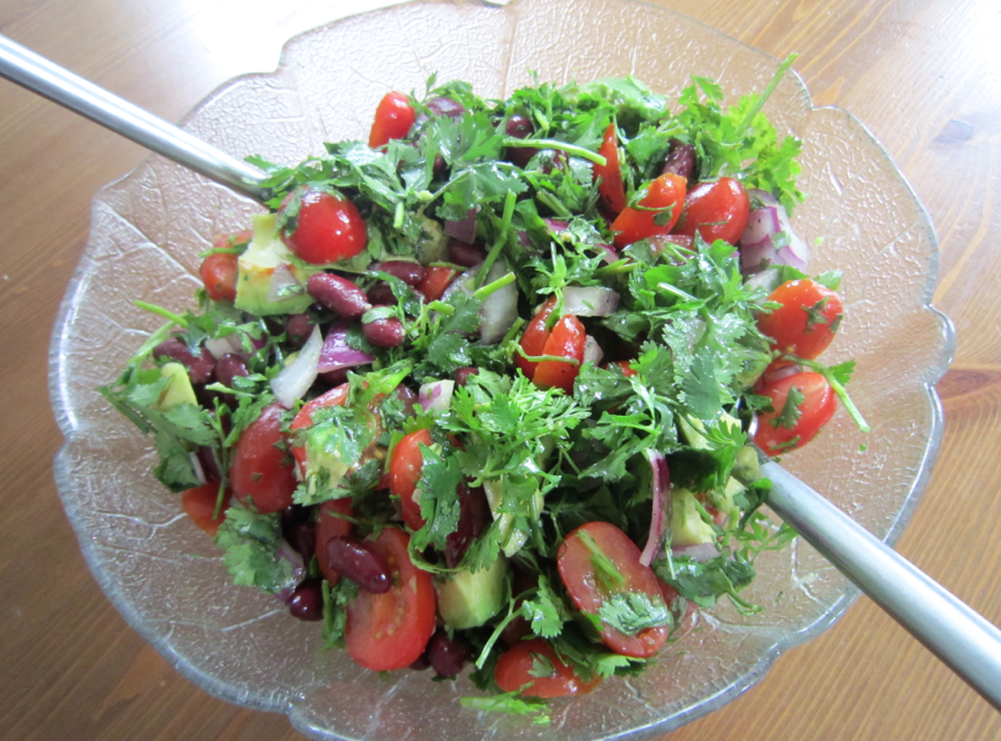 Avocado & Coriander Summer Superfood Salad