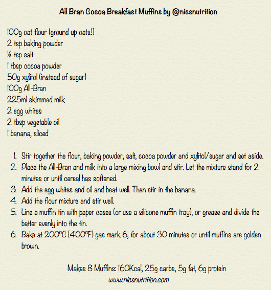 All Bran Chocolate Muffin Recipe
