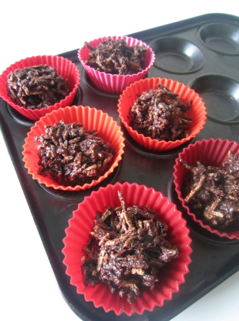Healthy Chocolate All Bran Crispy Cakes