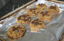 Delicious Chickpea Blondie (healthy!) cookies!