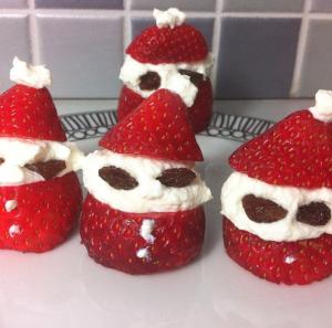 Healthy Strawberry Santas