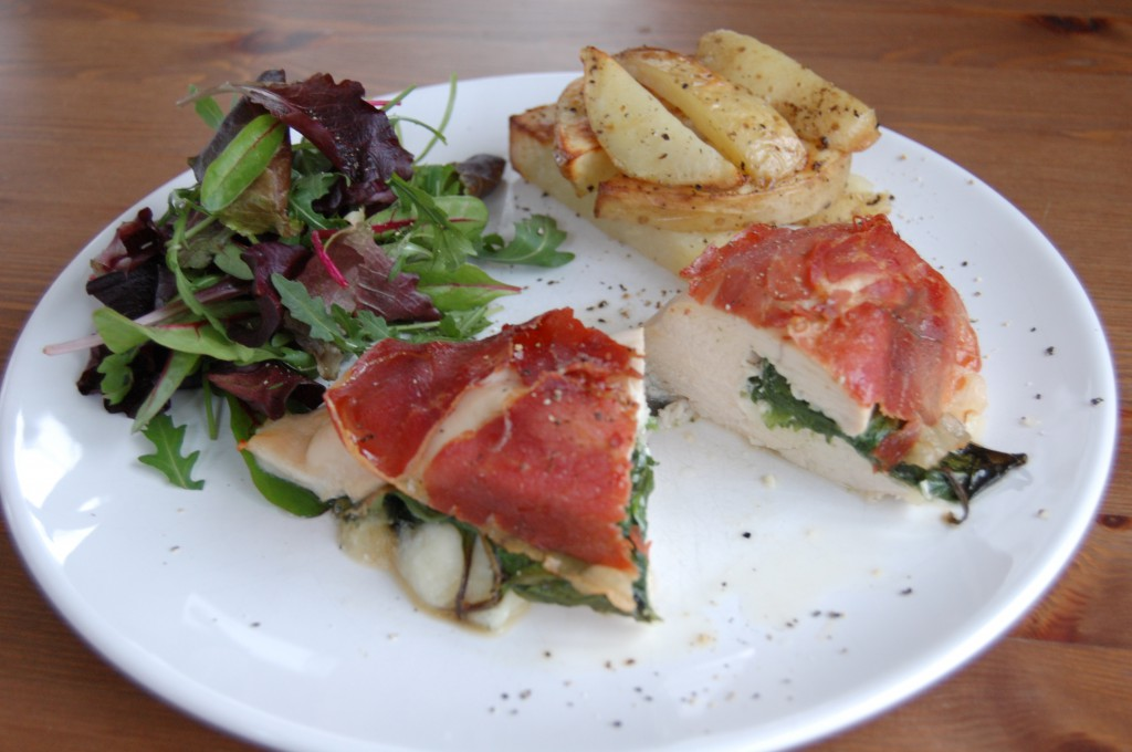 Chicken Melt with Parma Ham