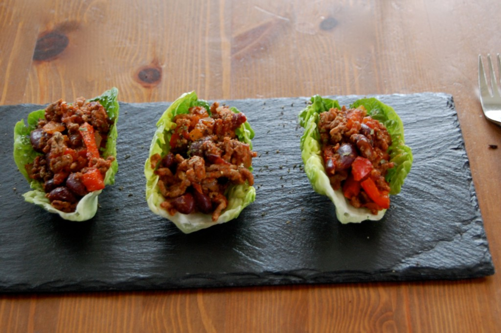 Mince with Lettuce Tacos
