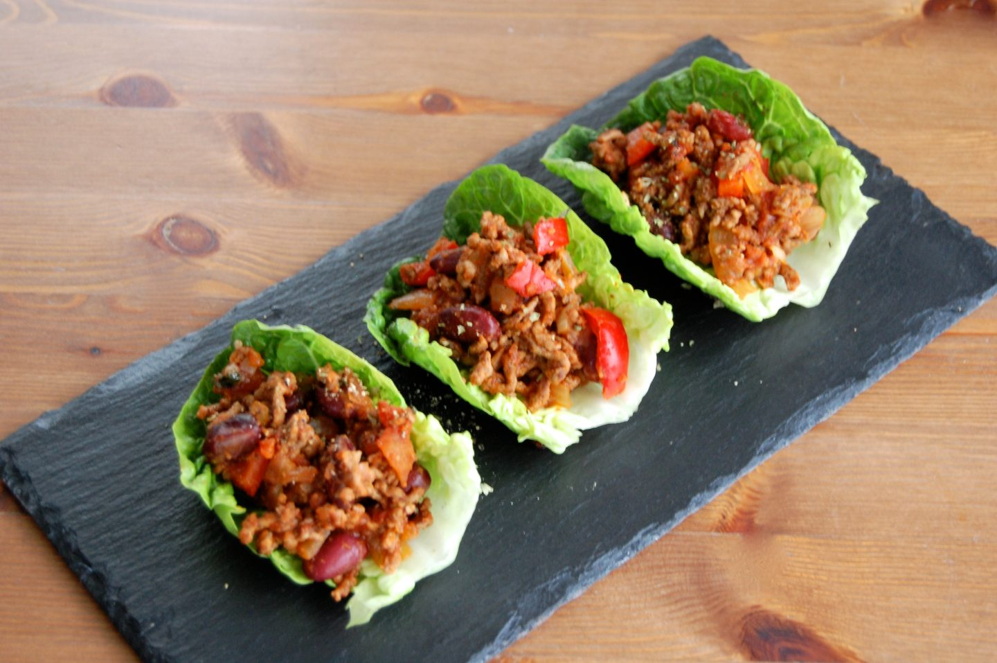 Mince in Baby Gem Lettuce Tacos