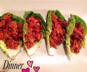 Mince in Lettuce Tacos