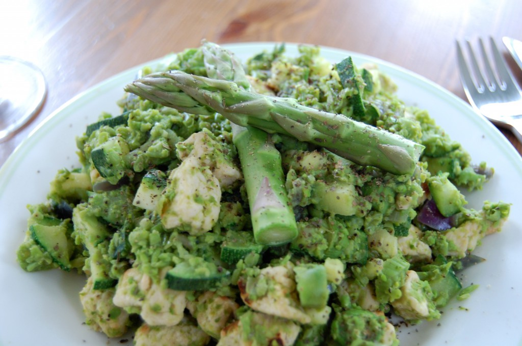Asparagus and Quorn Medley