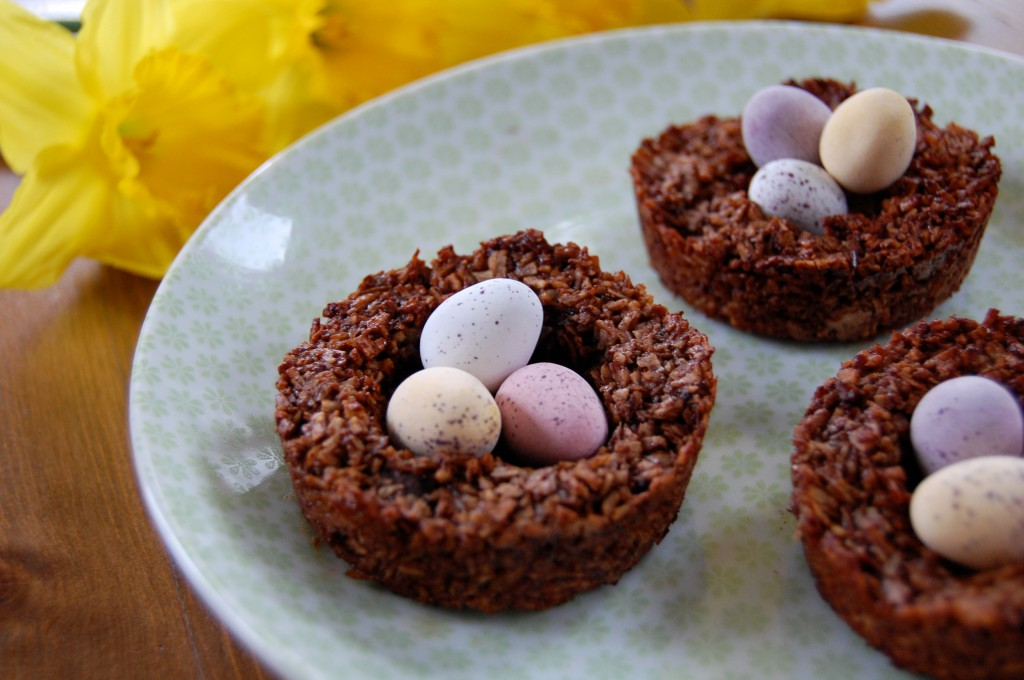Easter Chocolate Macaroon Nests