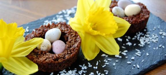 Easter Chocolate Macaroon Nests