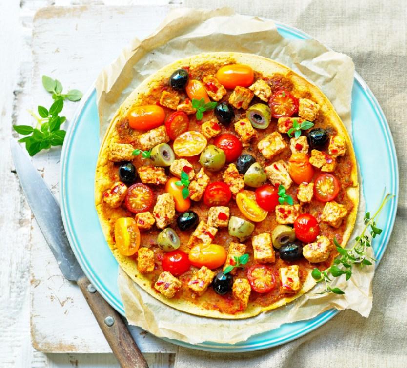 Quorn™ Vegan Mediterranean Socca Pizza