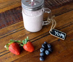 High protein berry smoothie