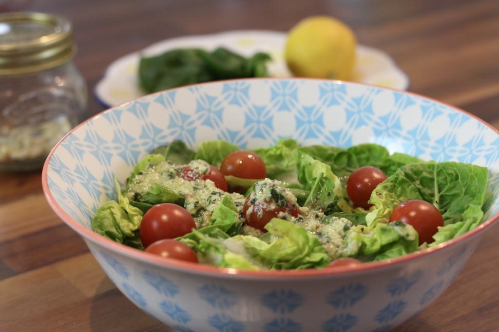 Baobab pesto salad dressing