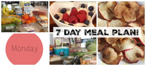 7 Day Healthy Meal Plan (Printable!)