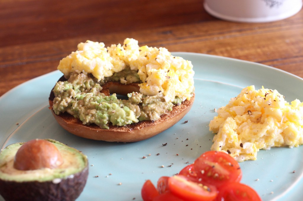 Avocado & Scrambled Egg Bagel