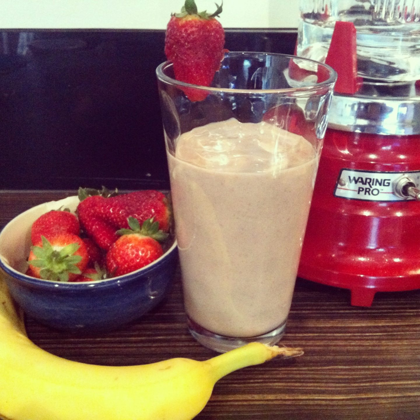 Strawberry & Banana Protein Work-Out Shake