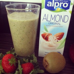 Summer green almond milk smoothie