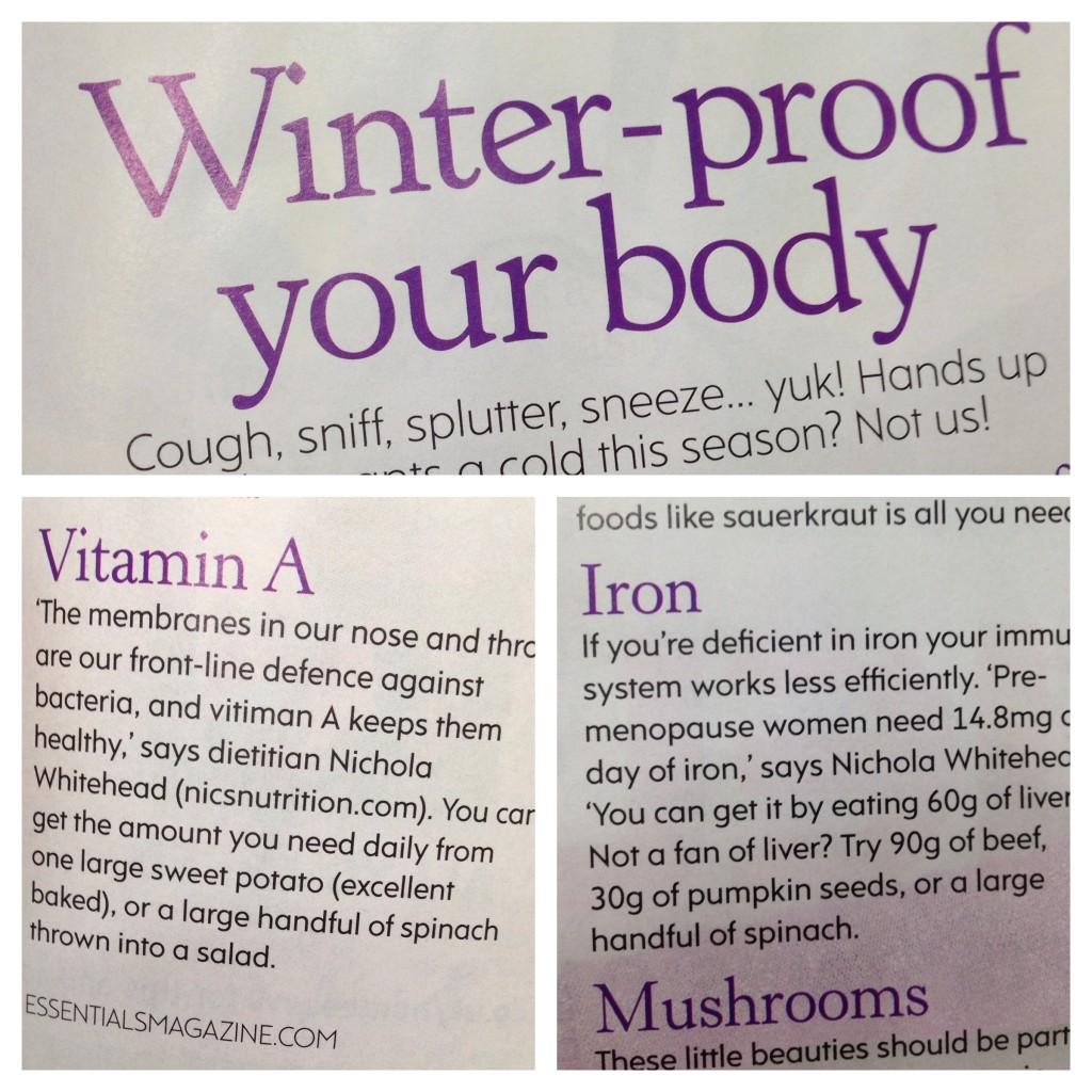 Foods to enhance immunity