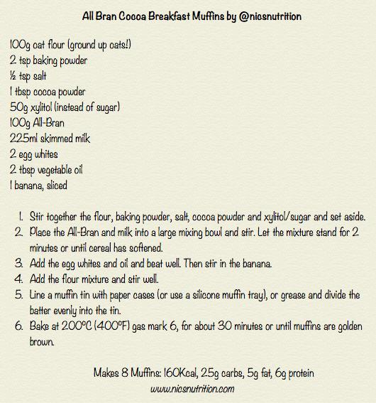 All Bran Chocolate Muffin Recipe