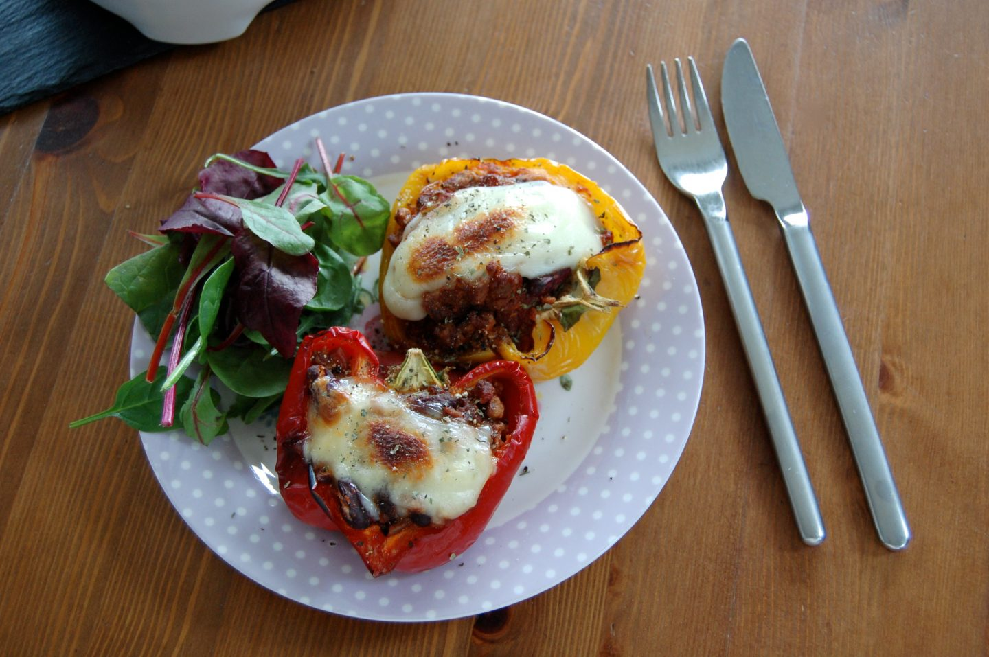 Quorn Stuffed Peppers with Skinny Mozzarella